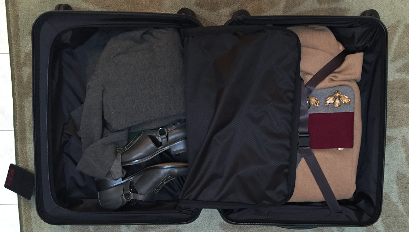 Tumi Carry On Luggage Packed